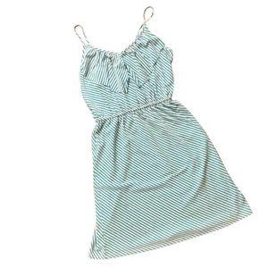 MOSSIMO Blue White Striped Mini Dress